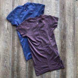 lululemon Two Swiftly Tech Short Sleeve Shirts 4